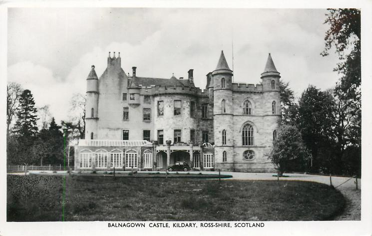 Balnagown Castle Kildary Ross Shire Scotland Tuckdb Postcards